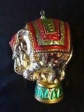 mammoth elephant glass christmas ornament poland 011192 ebay