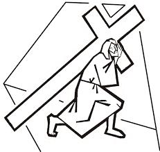 easter coloring book jesus carries cross jesus christ
