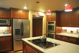 Transitional Island Lighting Red Kitchen Pendant Lights With U Shape Lighting Over Island And 4