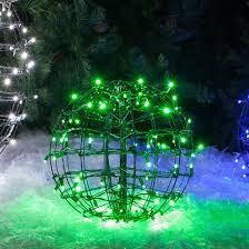 green led string lights 24 lighted spheres feature green led string lights and they fold