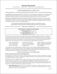 Senior Management Resume Templates Senior Executive Resume Samples Management Consulting Resume