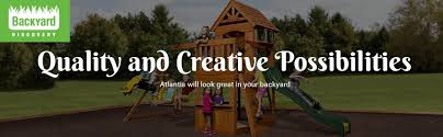 Amazon Backyard Playsets - amazon com backyard discovery atlantis all cedar wood playset