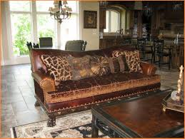 Leather Sofa Cushions Brown Leather Sofa With Fabric Cushions Fjellkjeden Net