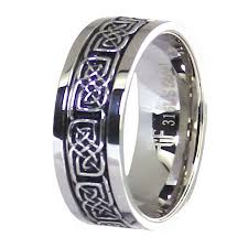 ring spinner stainless steel celtic knot worry spinner stress reliever ring