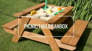 how to make an awesome picnic table sandbox for kids in a day
