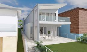 architect design 3d concept ocean house freshwater