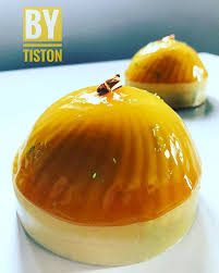 insert cuisine dôme caraïbes création by tiston composition dacquoise amande