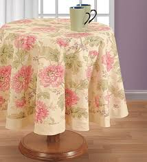 pink round table covers buy swayam pink cotton 72 inch floral printed table cover online