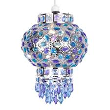 Coloured Chandelier by Traditional Moroccan Bazaar Style Chrome Plated Chandelier Ceiling