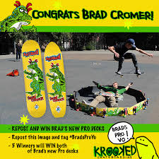 krooked skateboarding brad cromer is pro yo