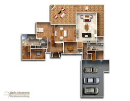 Floor Plan For Residential House Color Floor Plan Residential Floor Plans 2d Floor Plan Renderings