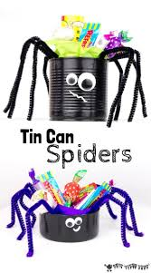 tin can spider craft spider craft and halloween themes