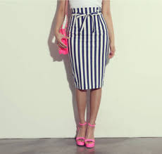 striped pencil skirt dress ala white and black pencil skirt fashion skirts