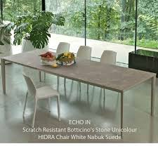 scratch resistant dining table bontempi casa echo in extending table 4 sizes 15 finishes