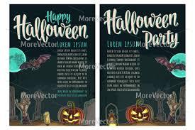 halloween poster calligraphy lettering design bundles
