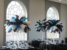 home design flower and event decor ostrich feather centerpieces