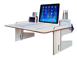 Portable Desk For Laptop Laser Cut Wood Bed Desk Laptop Desk Wooden Tablet Stand Tool