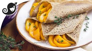 buckwheat crepes with lemon thyme peach filling gluten free