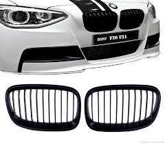 bmw grill 2018 2x matte black for bmw 1 series f20 f21 m performance sport