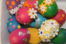 painted easter eggs easter egg decorating idea 3 painted bling eggs kids