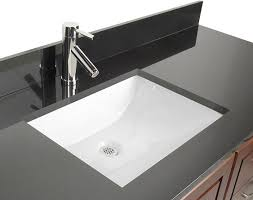 bathroom sinks ideas d vontz ceramic rectangular undermount bathroom sink with overflow