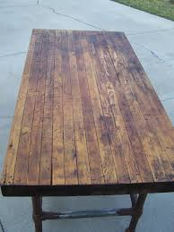 1920s butcher block table dining room table pinterest