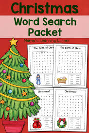 christmas word search printable packet mamas learning corner