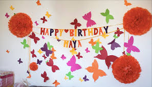 Birthday Decor At Home Fine Diy Quick Toddler Birthday Decorations At Home Known Amazing