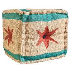 chicago flag ottoman pouf pouf ottoman wrightwood