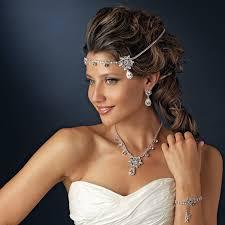 rhinestone headbands silver clear rhinestone floral bridal headbands