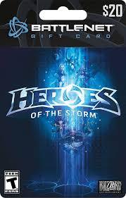battlenet prepaid card blizzard 20 heroes of the battle net gift card storms