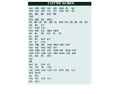 scrabble official 2 letter words gallery letter examples ideas
