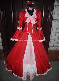 Butler Halloween Costume Butler Kuroshitsuji Elizabeth Cosplay Costume Red Lady Elizabeth