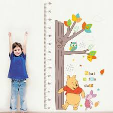 winnie the pooh height chart kid s hight home measure nursery wall winnie the pooh height chart kid s hight home measure nursery wall sticker decal