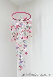 holidays diy valentines day diy s mobile hanging hearts hometalk