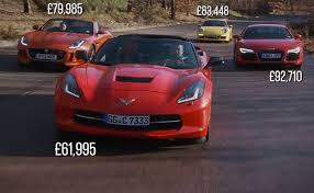 corvette vs audi r8 pfadt race engineering corvette stingray vs europe s finest via