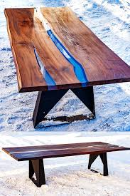 from coffee table to dining table dining table made of solid wood and epoxy resin legs metal