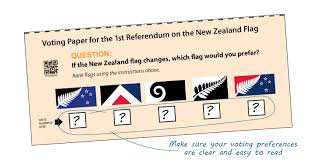 Nee Zealand Flag Referendum One November December 2015 Electoral Commission