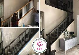 Gel Stain Banister Diy Banister Project From Sad To Fab Our Tribe Life