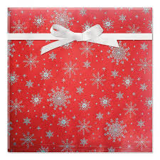 foil wrapping paper silver snowflakes on foil rolled gift wrap current catalog