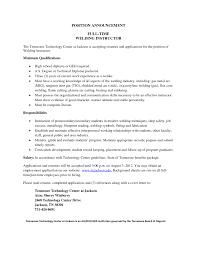 Welding Resume Examples Resume Sample Welder Resume