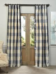 Blue Silk Curtains Devon Plaid Designer Silk Curtain All Curtains And Drapes High