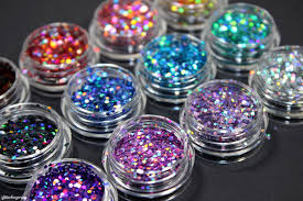 born pretty store glitter placement with loose holo glitters