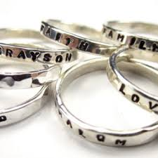 stackable mothers rings with names best stacking rings with names products on wanelo