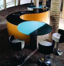 curved island kitchen designs kitchen funky curved kitchen design photo gallery with round