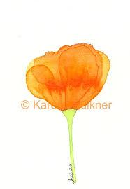california poppy no 1 original watercolor by karenfaulknerart