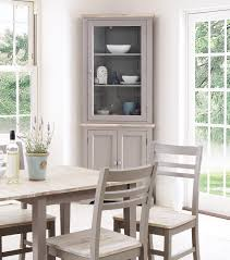 florence corner display cabinet dove grey
