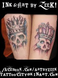 his and hers matching skull tattoos pictures to pin on pinterest
