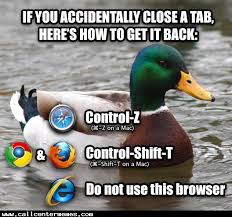 browser tips from advice mallard call center memes