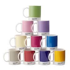 pantone mug set of 10 pantones ten primary colors color chip